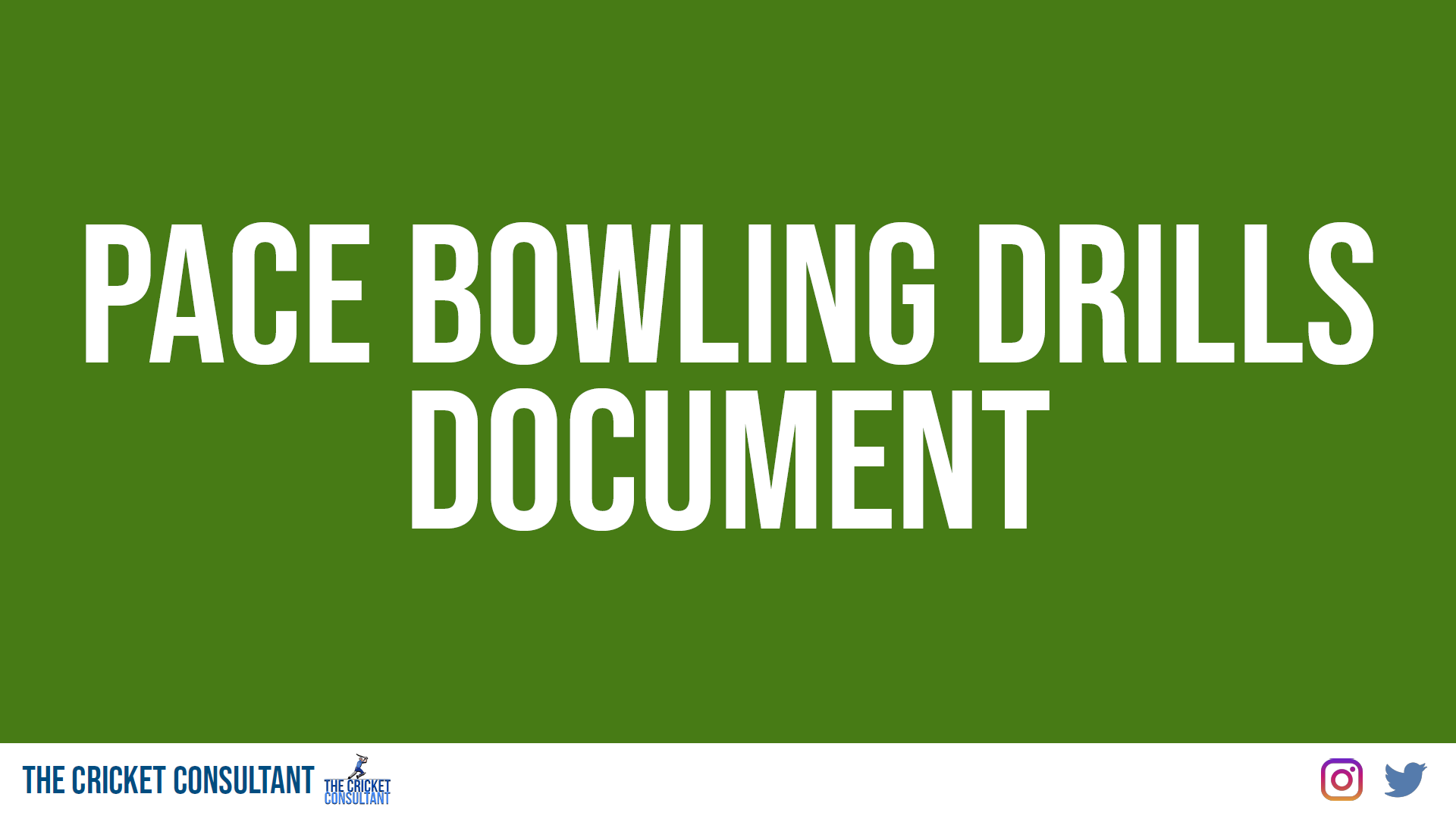 Pace Bowling Document